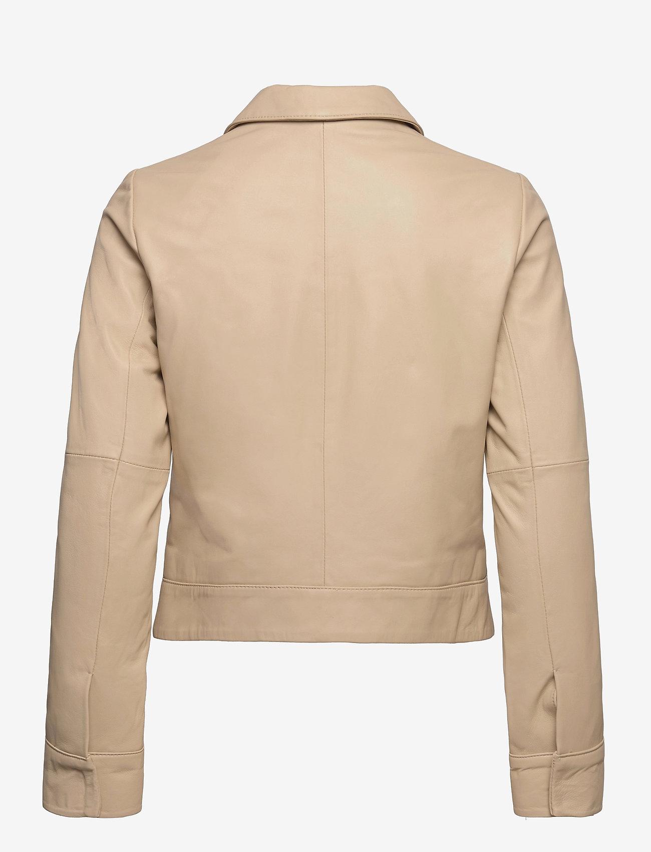 Jofama - Lynn Pocket Leather Jacket - skinnjakker - sand - 1