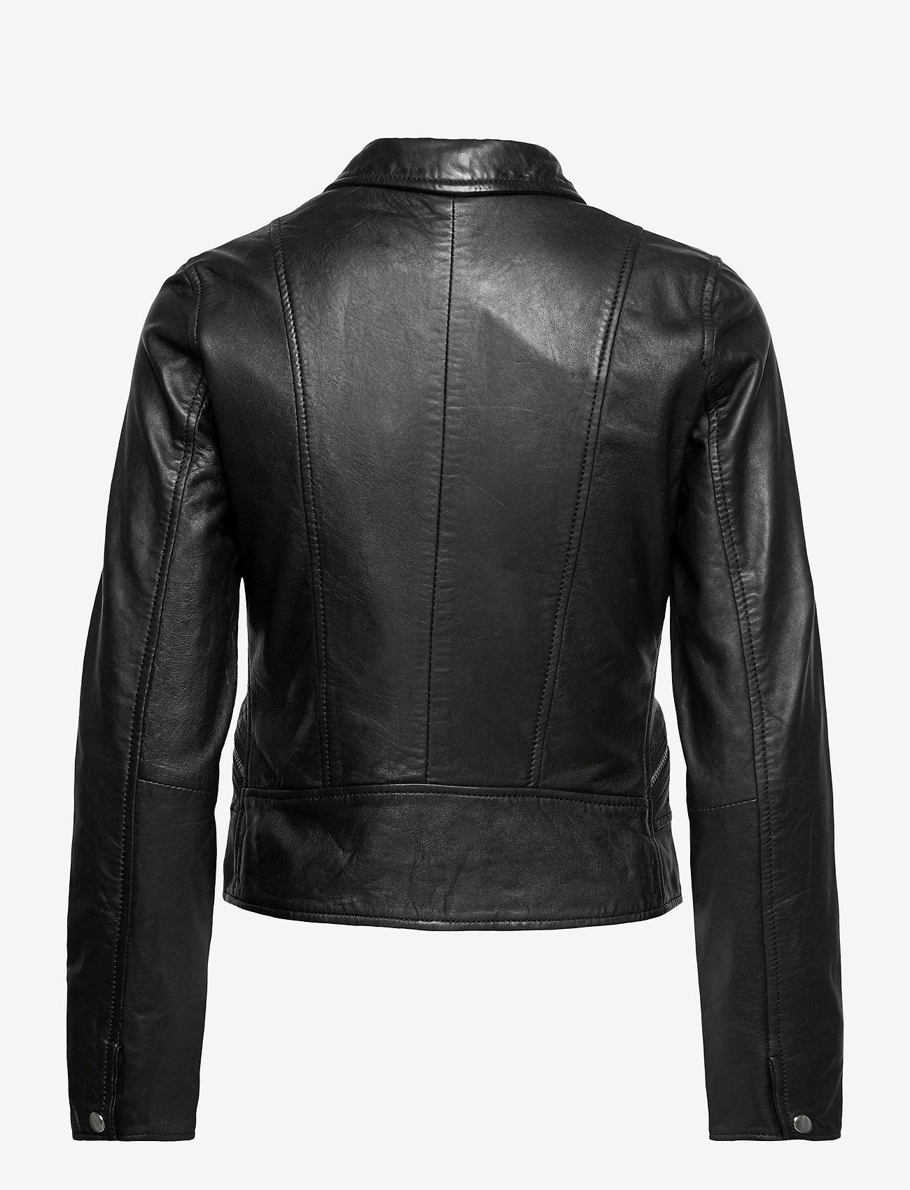 Jofama - Kaley Leather Biker - skinnjakker - black - 1