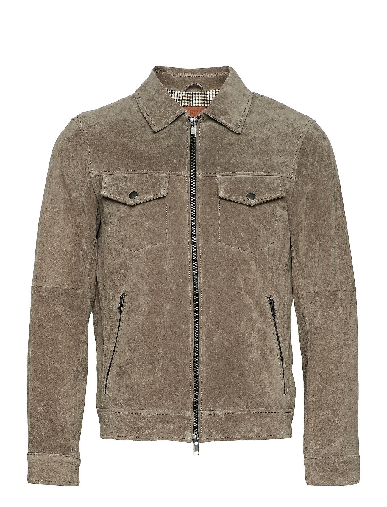 Image of Ben Suede Shirt Jacket Læderjakke Skindjakke Beige Jofama (3515474483)