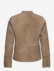Jofama - Laura Suede Classic Biker - skinnjakker - khaki - 1