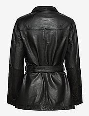 Jofama - Michelle Midi Leather Jacket - skinnjackor - black - 2