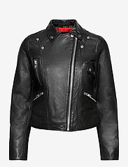 Jofama - Kaley Leather Biker - skinnjakker - black - 0