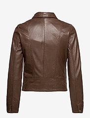Jofama - Kaley Leather Biker - skinnjackor - brownie - 1