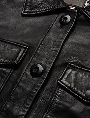 Jofama - Michelle Midi Leather Jacket - skinnjackor - black - 3