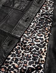 Jofama - Michelle Midi Leather Jacket - skinnjackor - black - 4