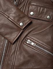 Jofama - Kaley Leather Biker - skinnjackor - brownie - 3