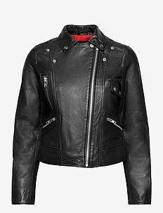 Kaley Leather Biker - skinnjakker - black