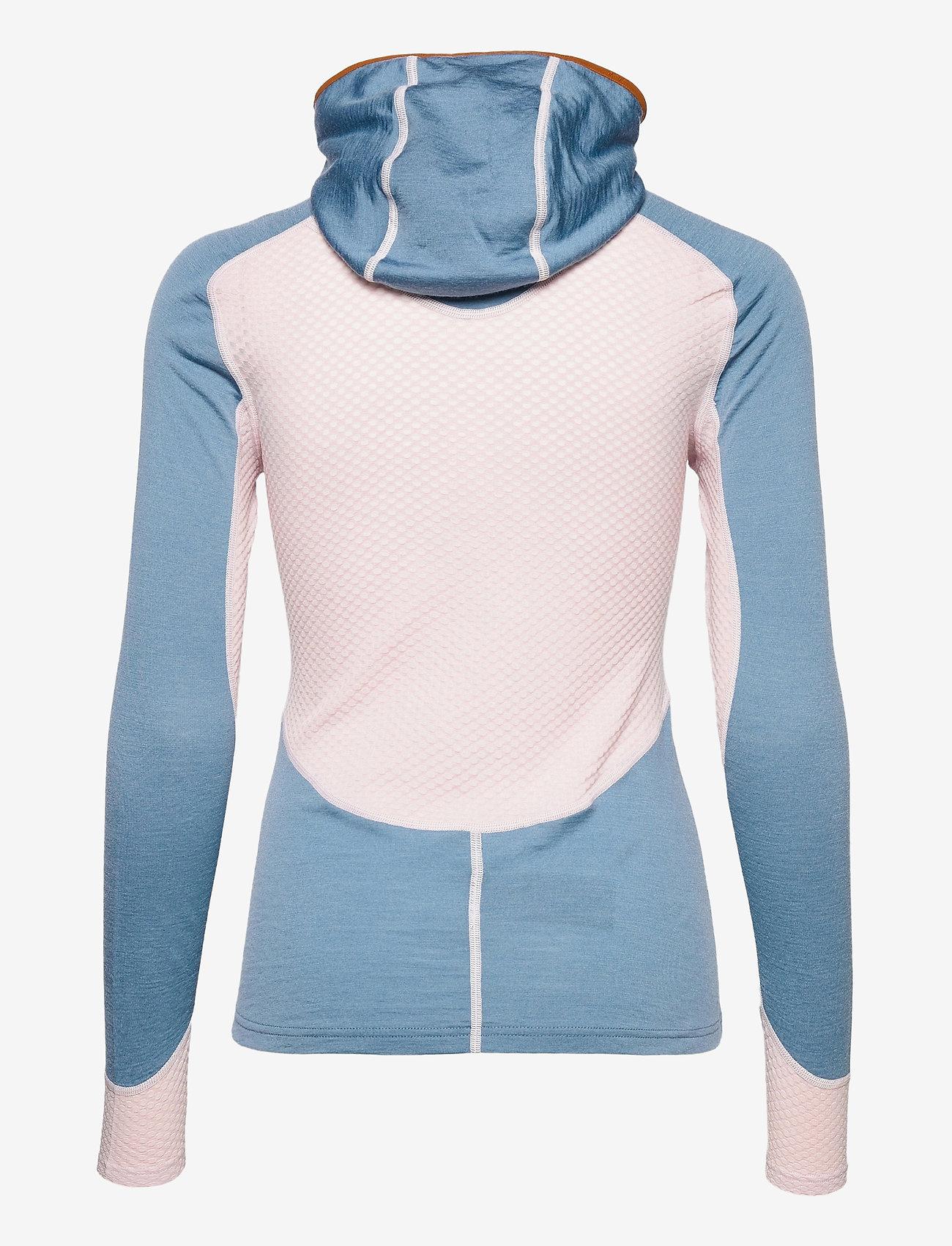Johaug - Lithe Tech-Wool Hood - base layer tops - blues - 1