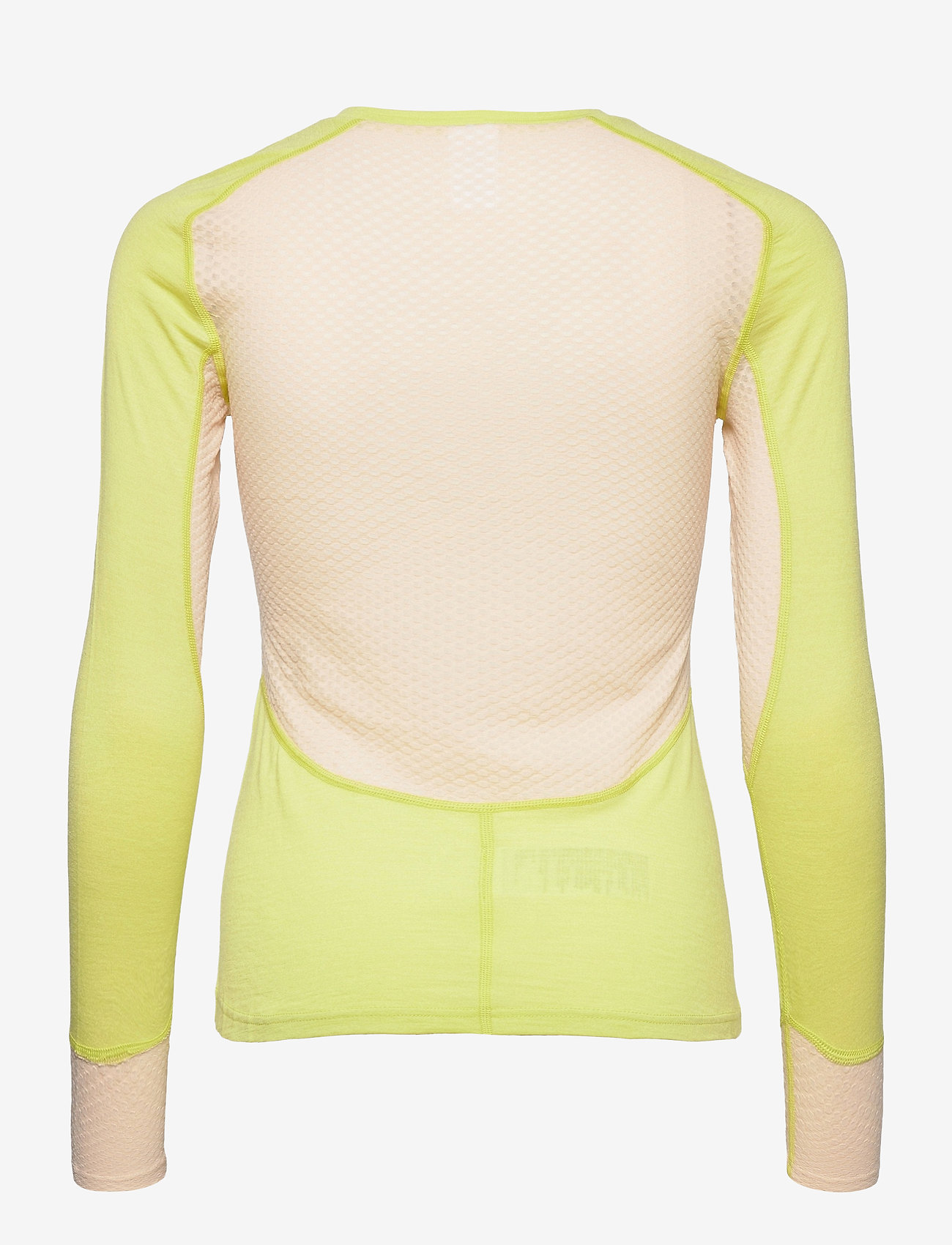 Johaug - Lithe Tech-Wool Long Sleeve - underställströjor - lime - 1