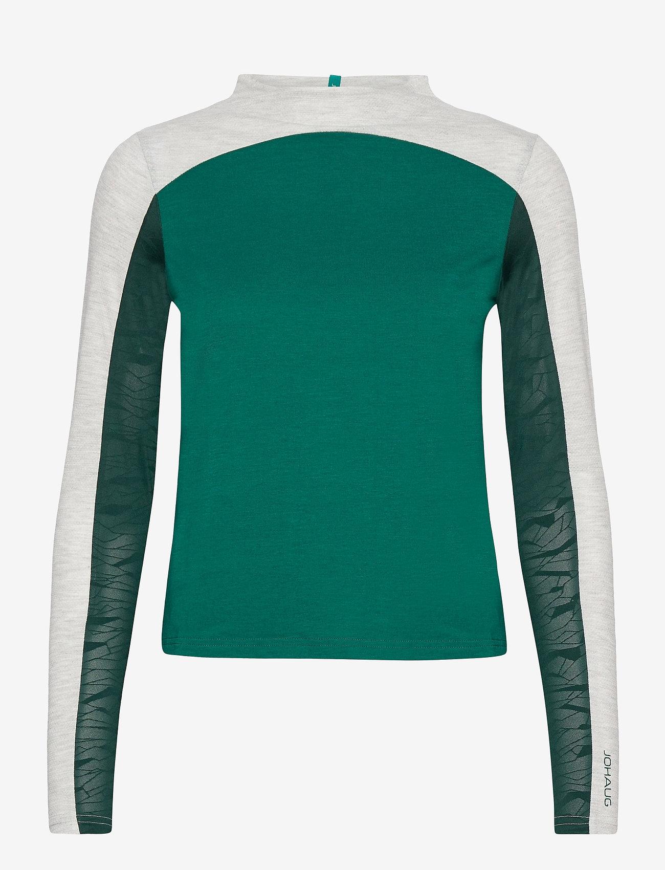 Johaug - Ace LS - långärmade tröjor - teal - 0