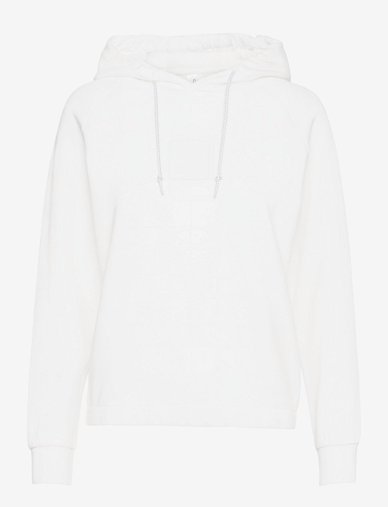 Johaug - Unaltered Hood - huvtröjor - white - 0