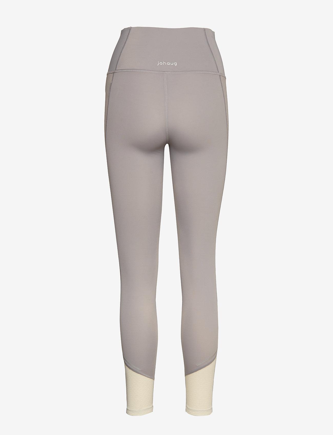 Johaug - Sheen tights - löpnings- och träningstights - ashes - 1