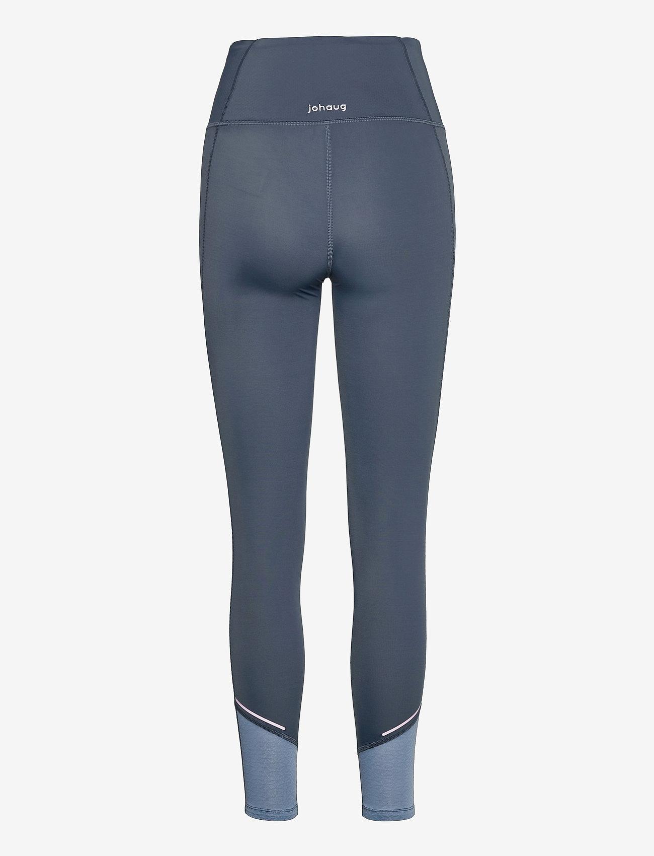 Johaug - Sheen tights - löpnings- och träningstights - mnavy - 1