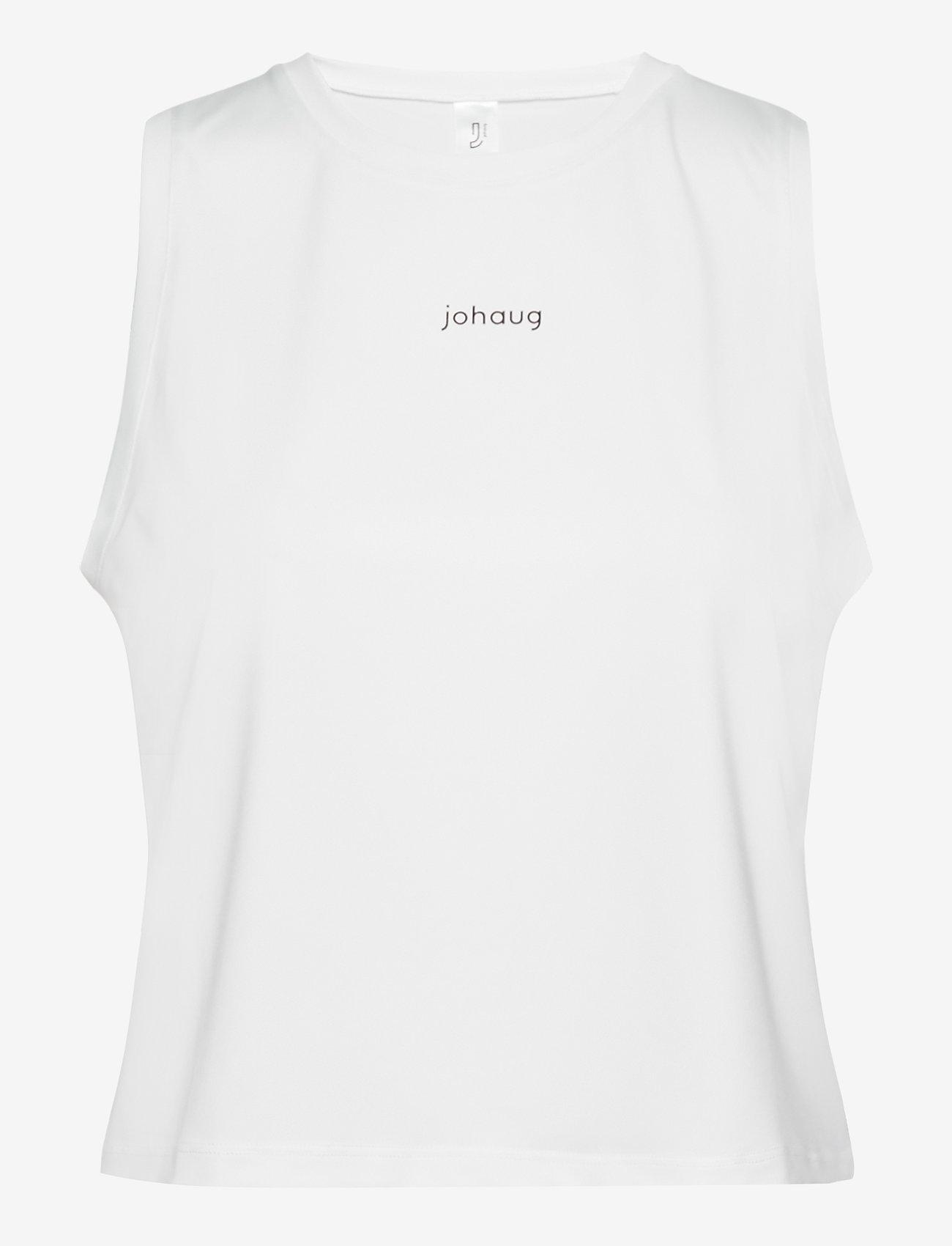 Johaug - Cropped Tank - crop tops - white - 0