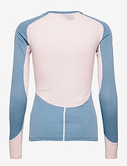 Johaug - Lithe Tech-Wool Long Sleeve - thermo ondershirts - blues - 1