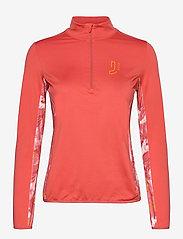 Johaug - Feather Fleece - mid layer jackets - spice - 0