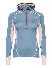 Lithe Tech-Wool Hood - BLUES