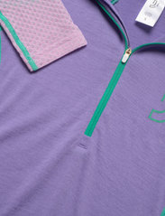 Johaug - Lithe Tech-Wool Hood - underställströjor - purpl - 2