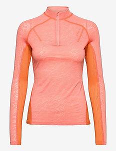 Velocity Half Zip - bluzki termoaktywne - coral