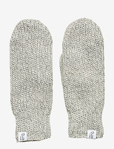 KNITTED RIB MITTEN - accessoires - greym