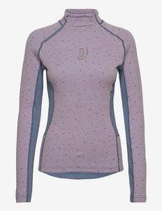 MAVEN WOOL HALF ZIP - bluzki termoaktywne - pinkl