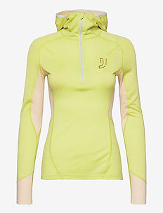 Lithe Tech-Wool Hood - base layer tops - lime
