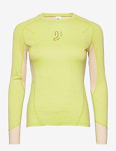 Lithe Tech-Wool Long Sleeve - base layer overdeler - lime