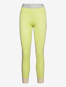 LITHE TECH-WOOL PANT - base layer bottoms - lime