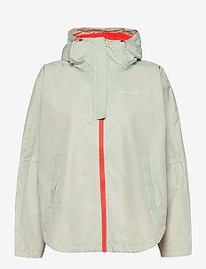 Silhouette Poncho Jacket - friluftsjackor - mist