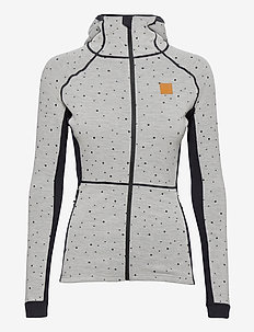 Maven Wool Fullzip Hood - mid layer jackets - greym