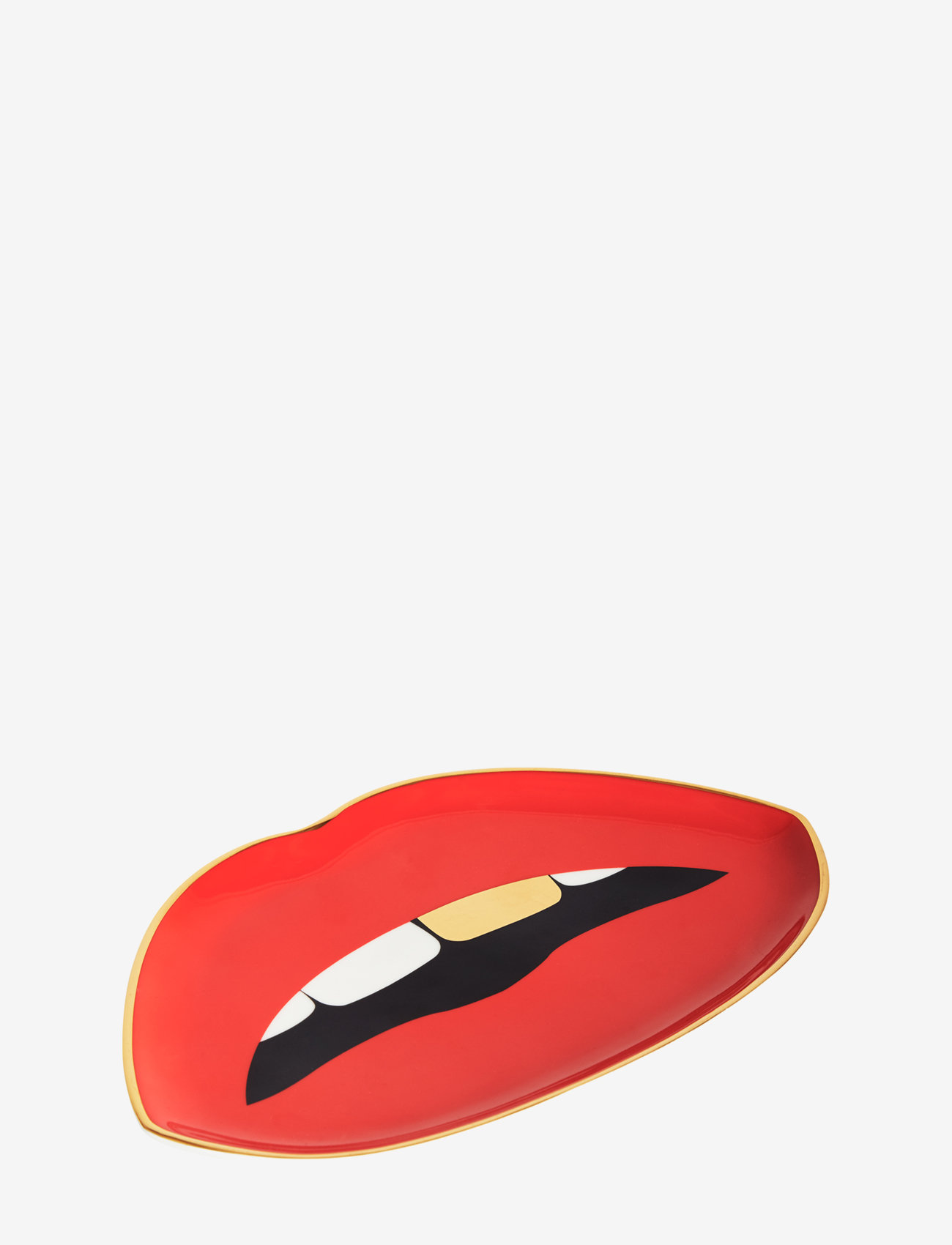 Jonathan Adler - Lips Trinket Tray - dekorative fat - red - 1