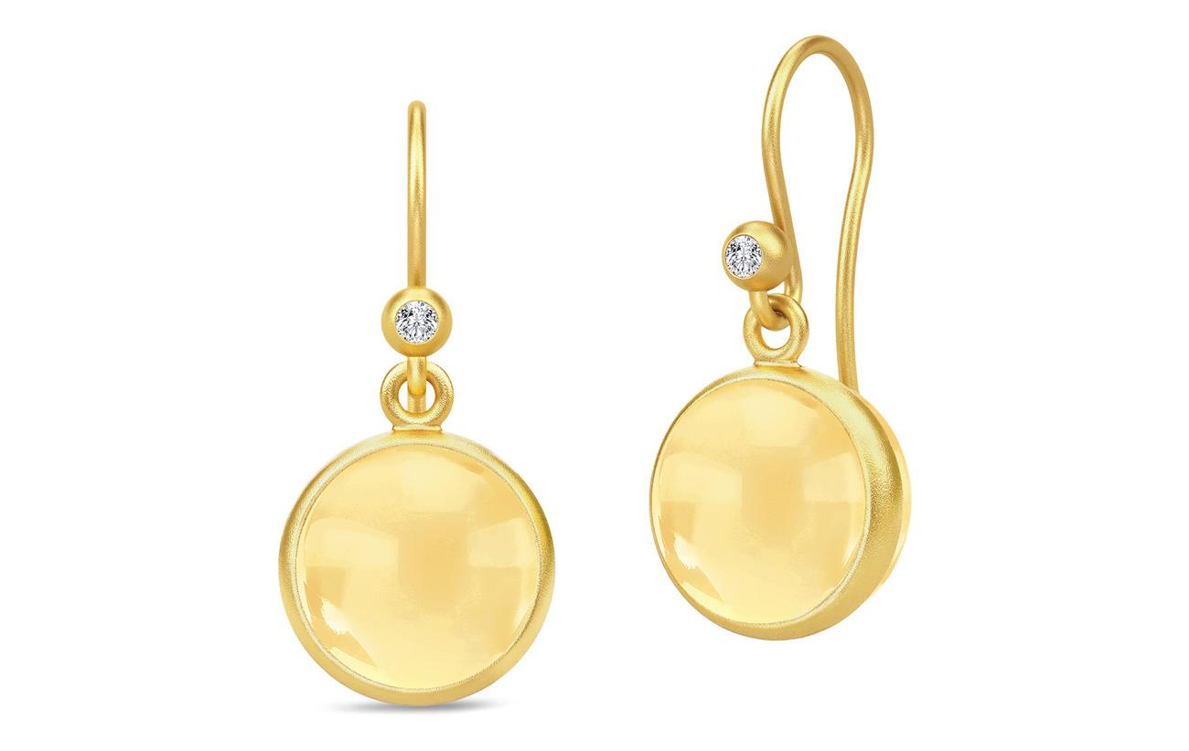 Julie Sandlau Prime Earrings - Gold/Citrine - GOLD / CITRINE