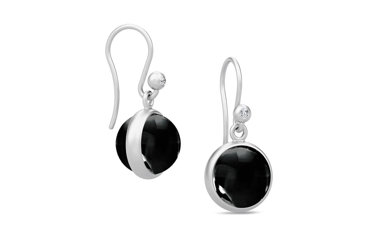 Julie Sandlau Prime Earrings - Rhodium/Black - BLACK