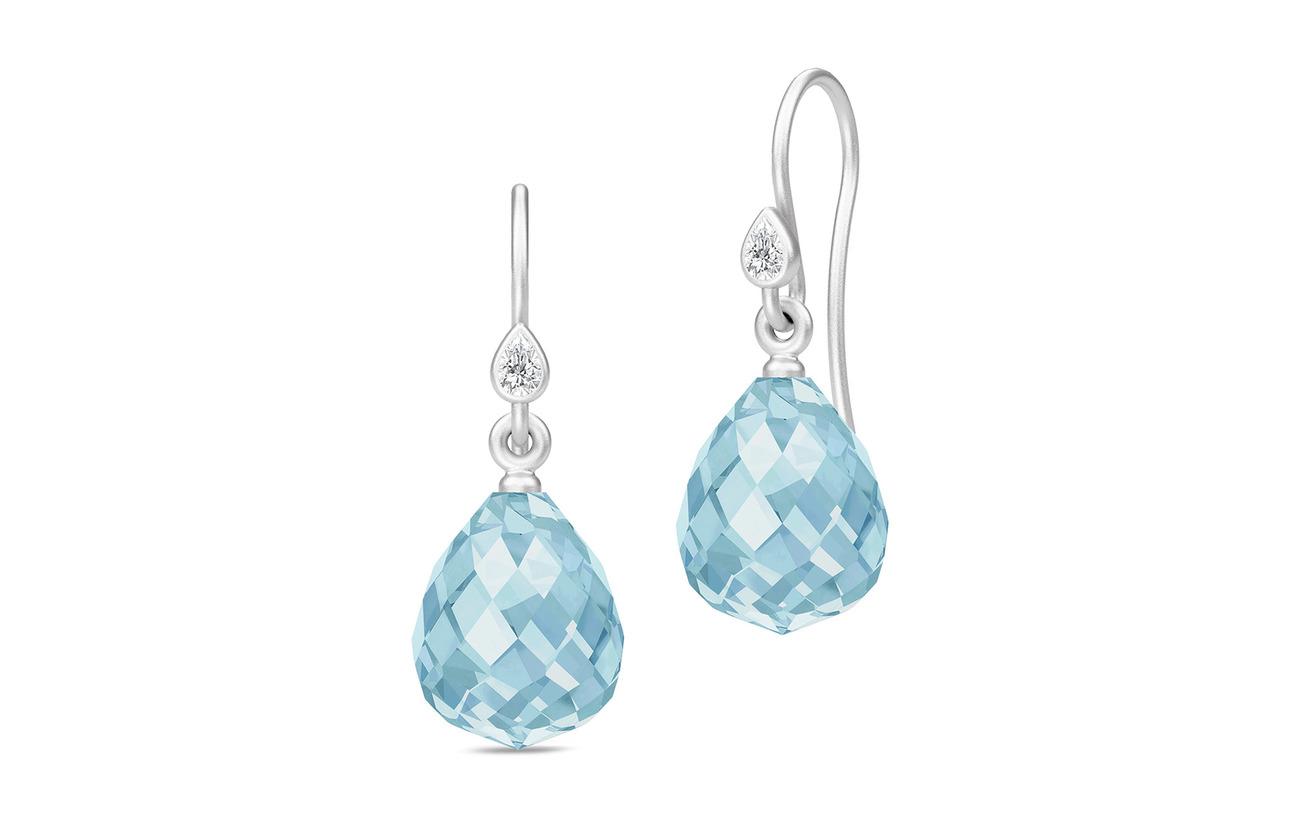 Julie Sandlau Droplet Earrings - Rhodium/Blue - BLUE