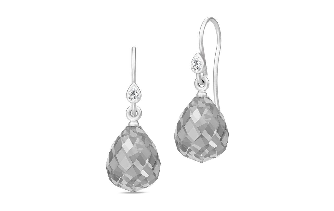 Julie Sandlau Droplet Earrings - Rhodium/Grey - GREY