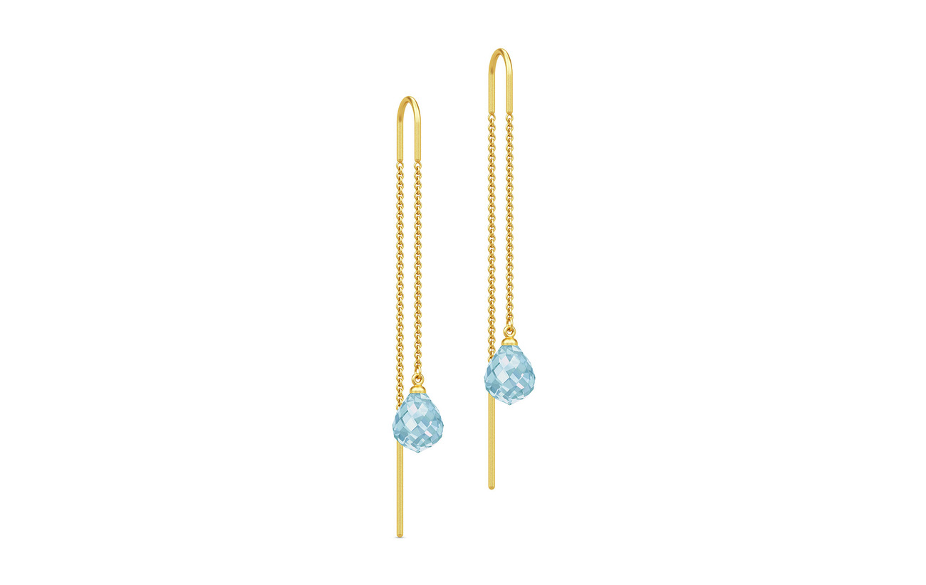 Julie Sandlau Evening Dew Earrings - Gold/Blue - BLUE