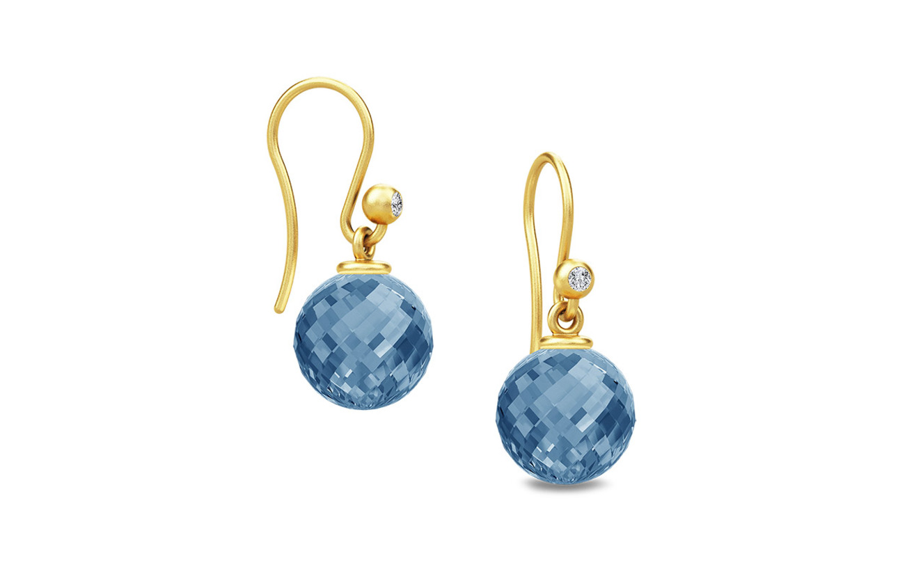 Julie Sandlau Globe Earring - BLUE