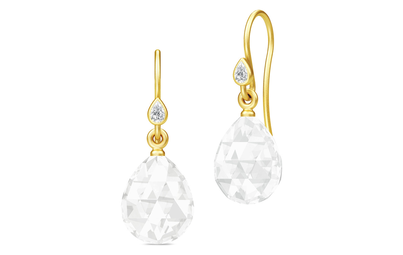 Julie Sandlau Ballerina Earrings - Gold/Clear - GOLD / CLEAR