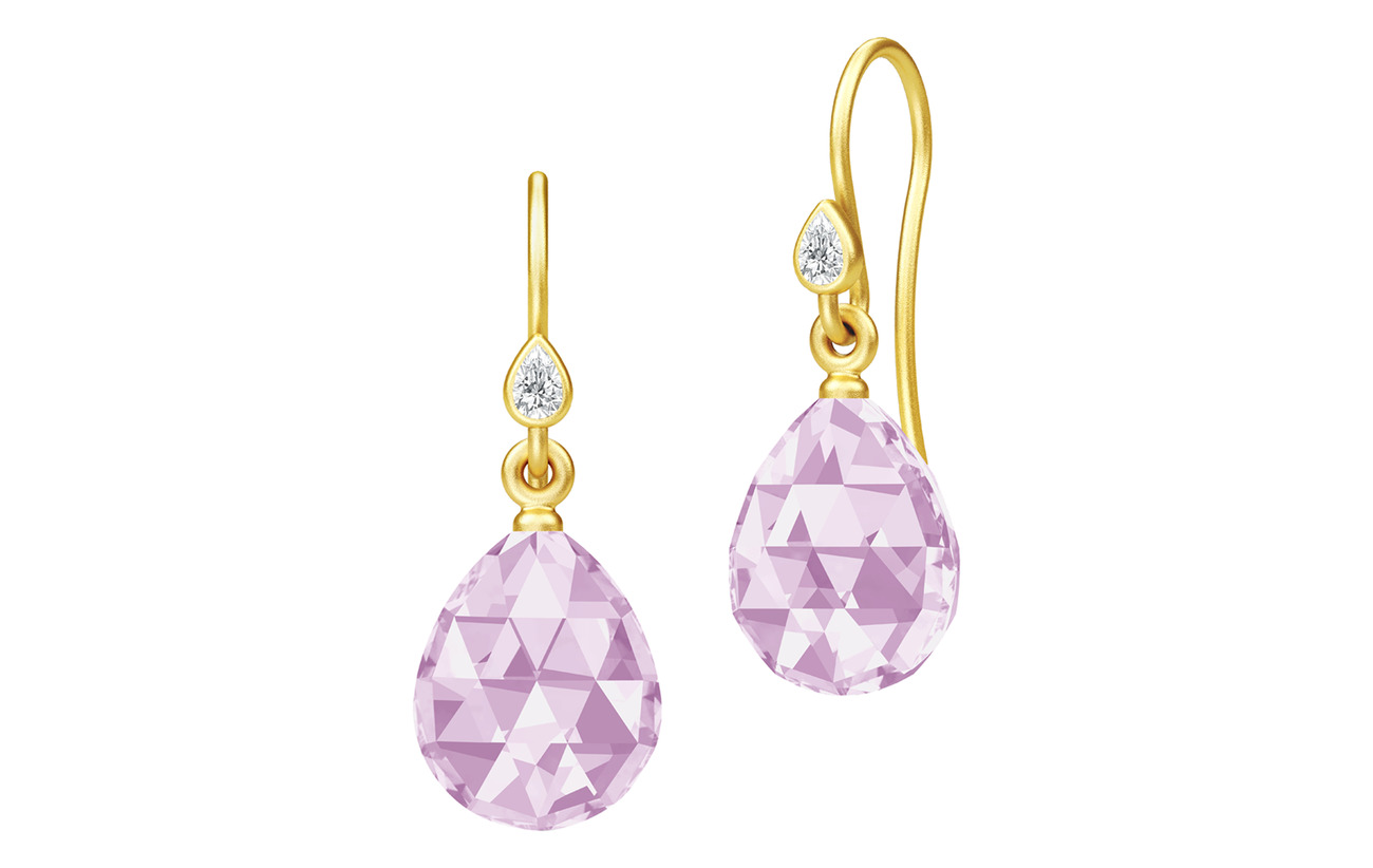 Julie Sandlau Ballerina Earrings - Gold/Lavender - PURPLE