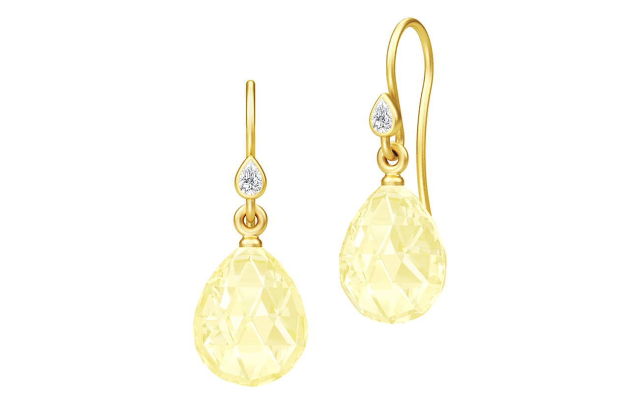 Julie Sandlau Ballerina Earrings - Gold/Lemon - YELLOW