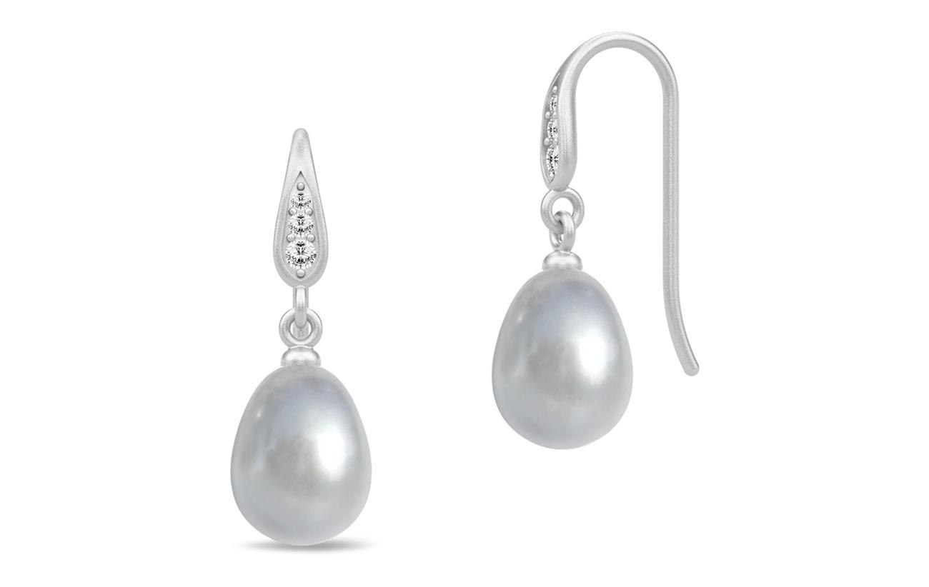 Julie Sandlau Ocean Earrings - Rhodium/Grey - GREY