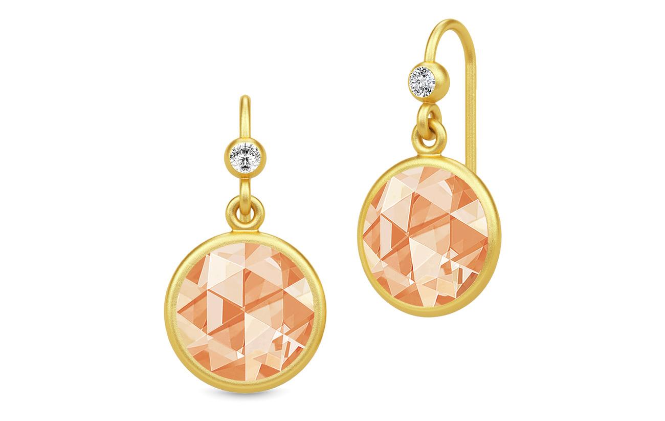 Julie Sandlau Cocktail Earrings - Gold/Champagne - GOLD / CHAMPAGNE