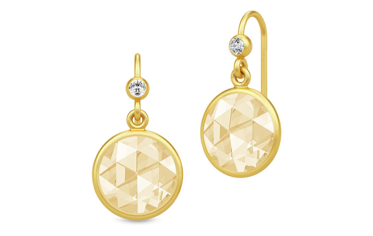 Julie Sandlau Cocktail Earrings - Gold//Lemon - GOLD / LEMON