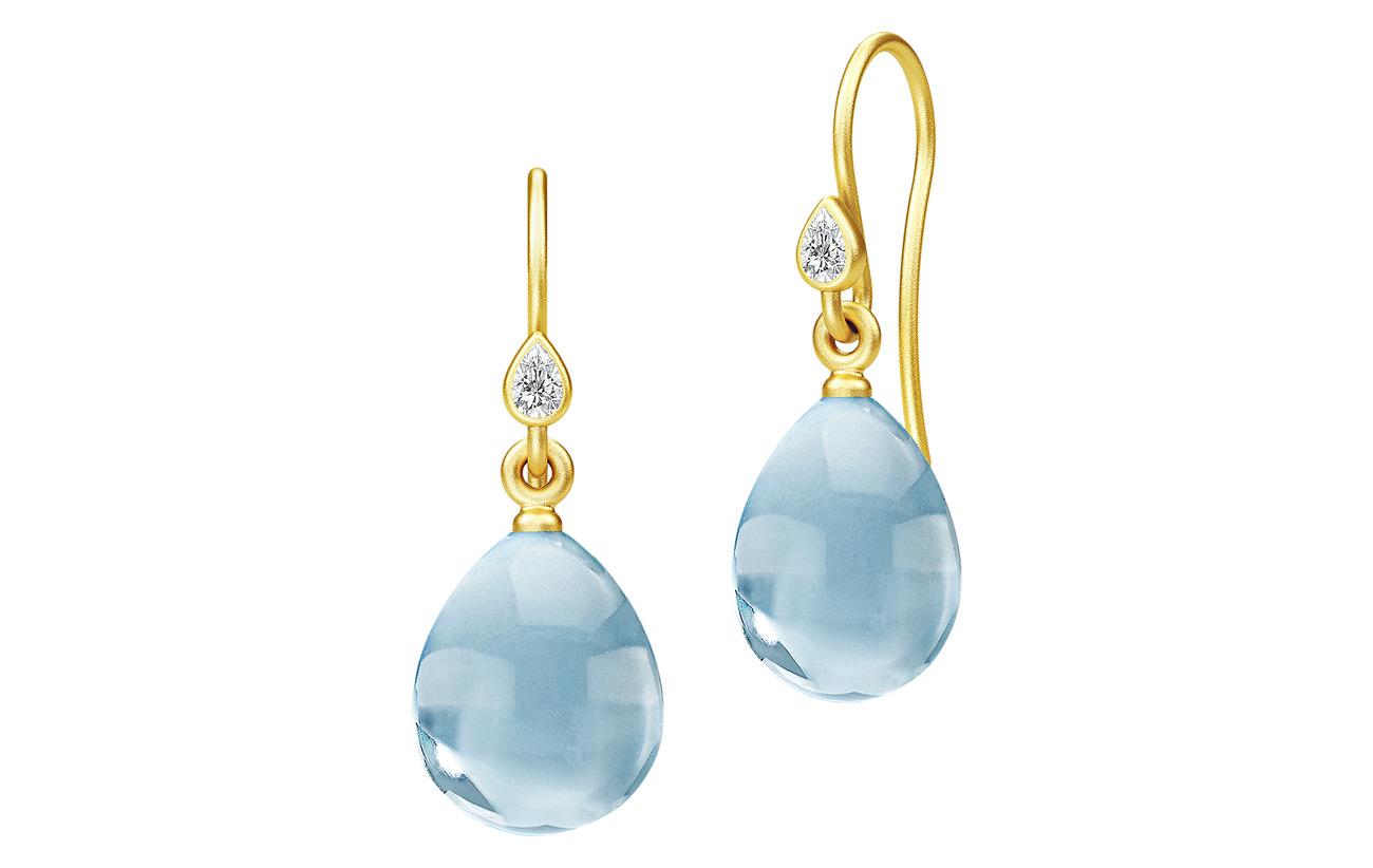 Julie Sandlau Prima Ballerina Earrings - Gold/Ocean - GOLD / OCEAN BLUE
