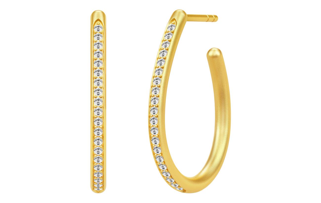 Julie Sandlau Infinity Pear Hoop Earring - Gold - GOLD