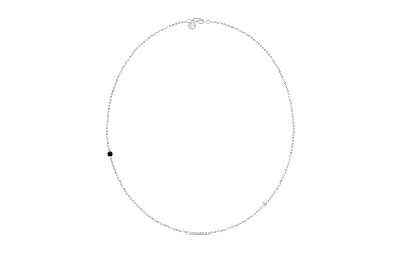Julie Sandlau Prime Necklace Small Rhodium svart Smycken