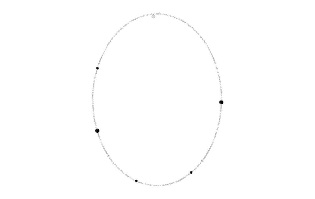 Julie Sandlau Prime Necklace Large - Rhodium/Black - BLACK