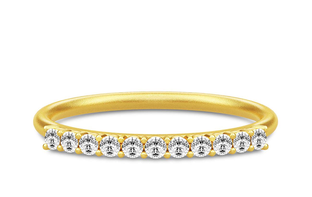 Julie Sandlau Lucia Ring 52 - Gold - GOLD