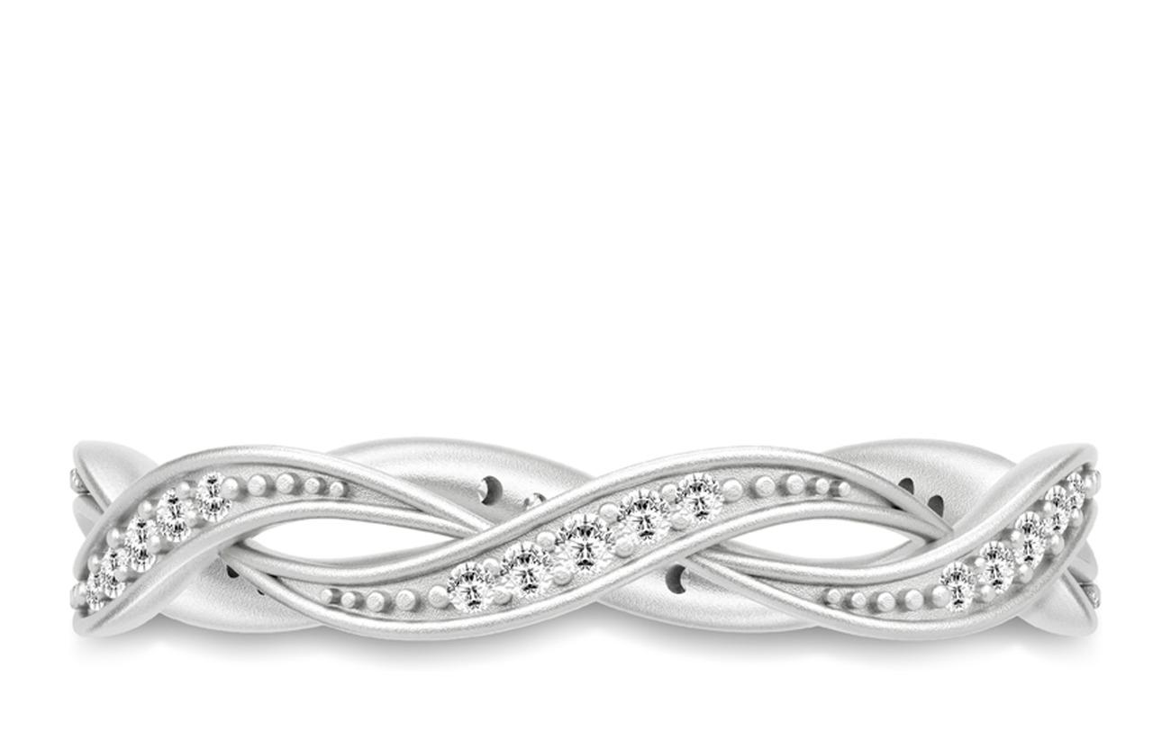 Julie Sandlau Ocean Ring 52 Rhodium Smycken