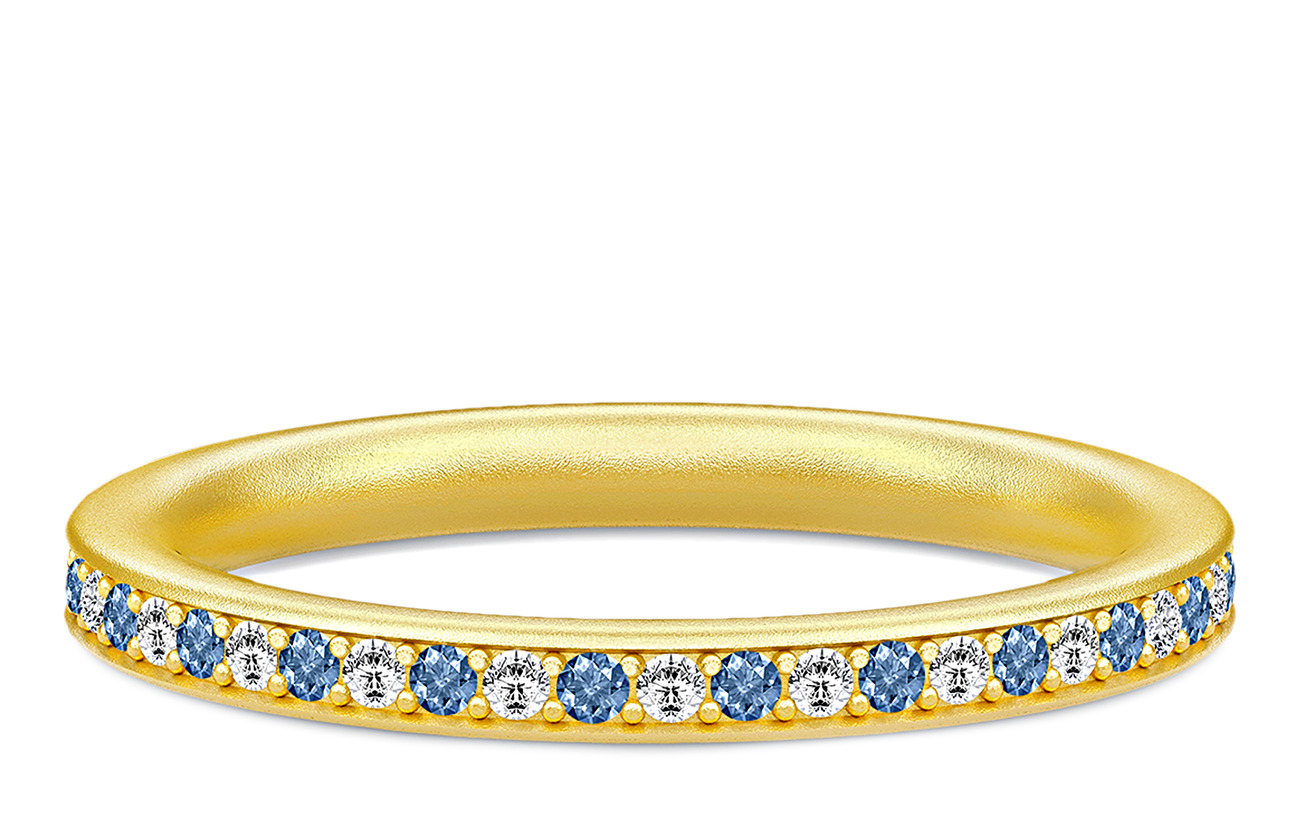 Julie Sandlau Infinity Ring Gold white/blue - GOLD / WHITE AND BLUE